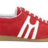 Zapatilla deportiva hecha a mano en Barcelona Mates Carmel Rojo Blanco